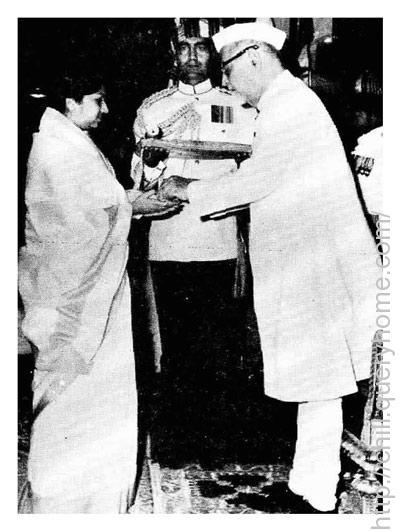 In 1969 Lata Mangeshkar was awarded the Padma Bhushan