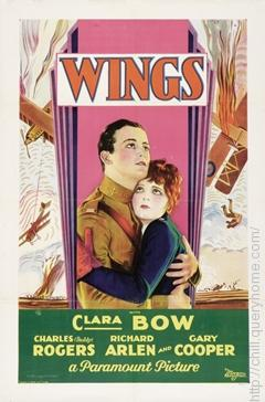 Wings (1927) is the only silent film to win the best picture Oscar award.