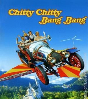 The famous car was Chitty Chitty Bang Bang which Professor Caractacus Potts drive in movie Chitty Chitty Bang Bang (1968).