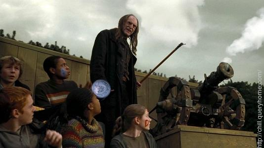 What does Filch do repeatedly throughout the film?