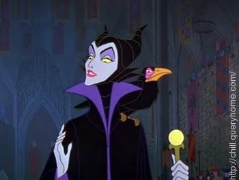 Maleficent** is the name of the Queen Witch in Walt Disney's Sleeping Beauty
