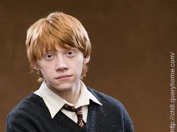 Rupert Grint as Ron Weasley in Harry Potter film series