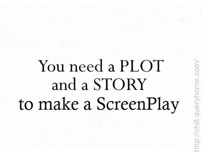 plot, script, screenplay