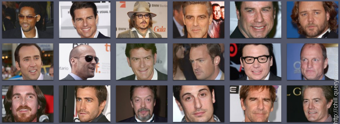 Identify these famous movie actors