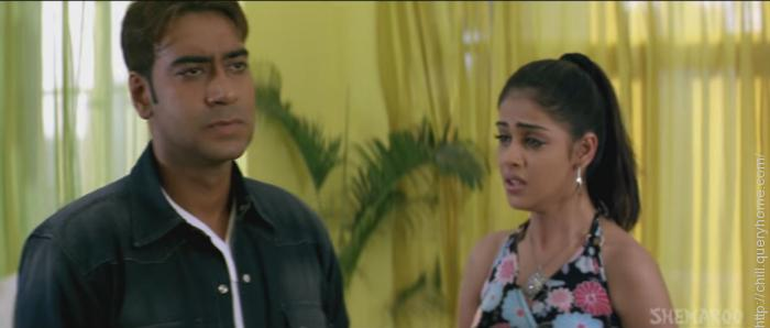 A scene from Masti - Ajay degan and Genelia D'Souza