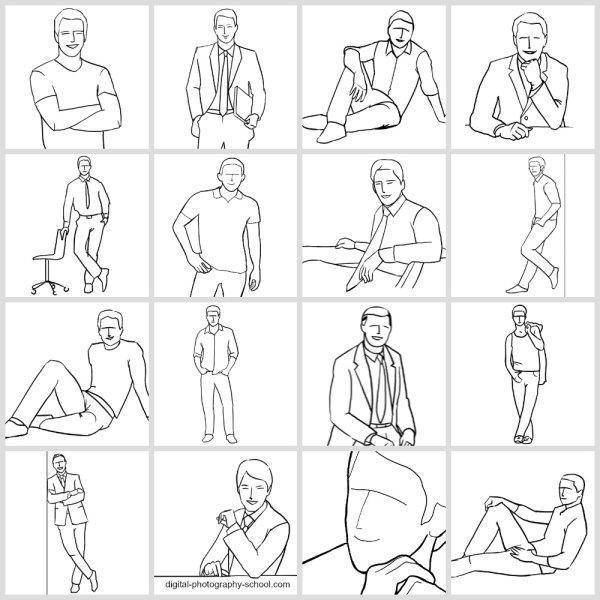 Posing Cheat Sheet For Men Photography
