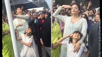 Aishwarya Rai Bachchan has become the first female actor ever to hoist the Indian National Flag at the Indian Film Festival of Melbourne (IFFM)