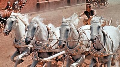 Aldeberan, Antares, Atair, and Rigel are the names of the four horses those are perticipate in the Chariot race in movie Ben Hur.