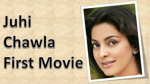 What is the debut film of Juhi Chawla?