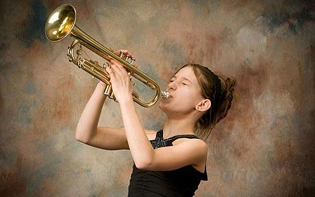 Playing a musical instrument helps build confidence