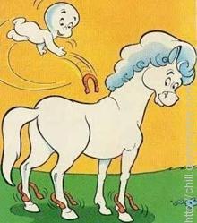 Nightmare was the name of Casper's horse-ghost friend in the cartoon 'Casper'.