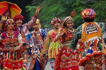 Garba (dance form) originated from the Gujarat state in India.