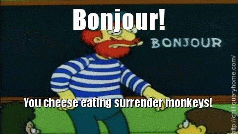 who coined the phrase cheese eating surrender monkeys