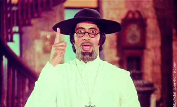 Amitabh Bachchan in the film Amar Akbar Anthony