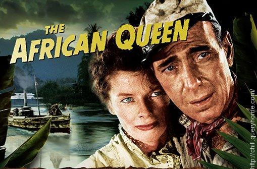 Who played the lead female role in hollywood movie 'The African Queen'?