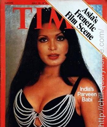 Parveen Babi was the first Indian Bollywood star to feature on the cover of TIME magazine in 1976