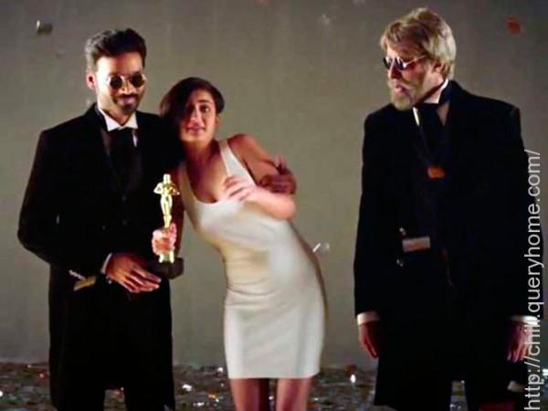 Dhanush, Akshara Haasan and Amitabh Bachchan
