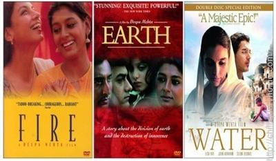 Deepa Mehta's 'Elements Trilogy' is made of three films Fire (1996), Earth (1998) and Water (2005).