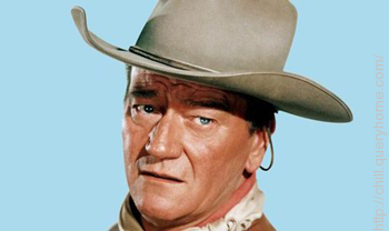 John Wayne was known as 'Singing Sandy' early in his career.