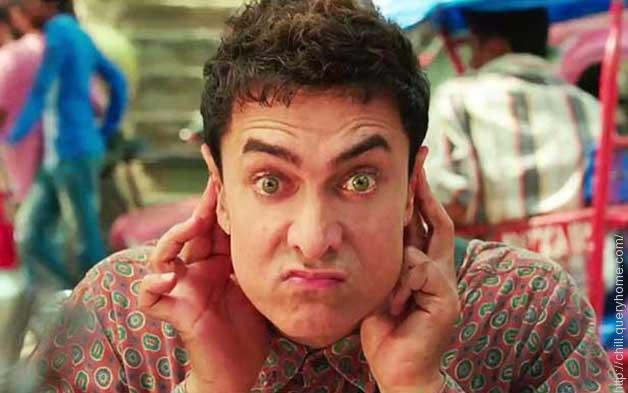 How many time Aamir Khan blink his eyes throughout the film pk?