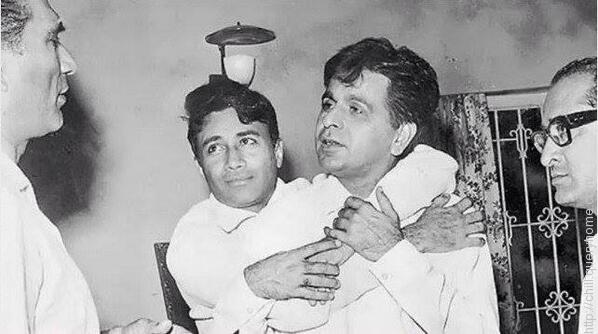 Name the only movie in which the two Bollywood legends, Dilip Kumar and Dev Anand acted together?