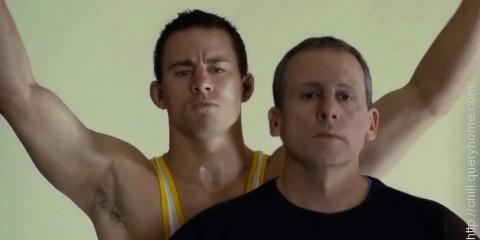 In which acclaimed film do Channing Tatum and Mark Ruffalo play former American Olympic wrestlers Mark and Dave Schultz