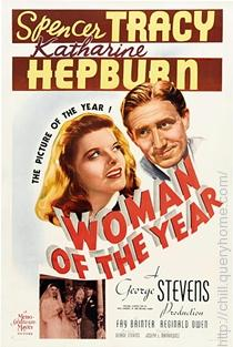 In movie Woman of the Year (1942) Spencer Tracy and Katharine Hepburn together appeared first time.