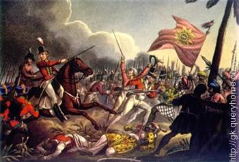 The Battle of Buxar was fought on 22 October 1764 between the forces under the command of the British East India Company led by Hector Munro and the combined armies of Mir Qasim, the Nawab of Bengal; the Nawab of Awadh; and the Mughal King Shah Alam II.