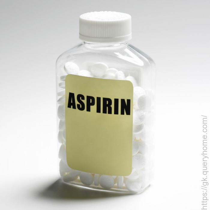 old bottle of aspirin