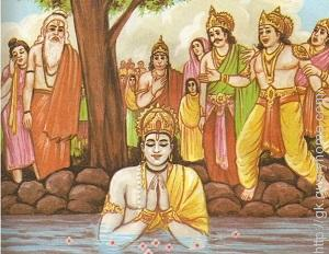 Lakshmana's self immolation