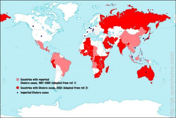 cholera outbreak world map