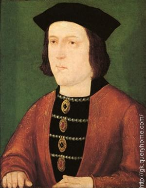 British king Edward IV** banned cricket in 1477
