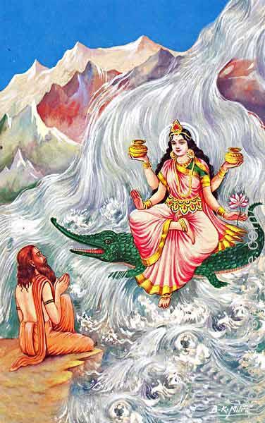 Goddess Ganga to Earth from the heavens