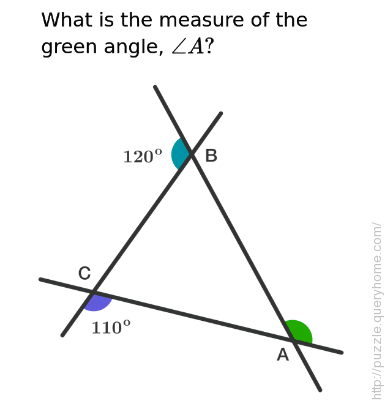 What is the value of angle A