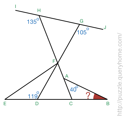 According to the image below, what is the measure (in degrees) of angle ABC