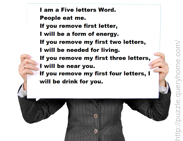 5 letter word puzzle i am five letter word eat me if you remove 10097