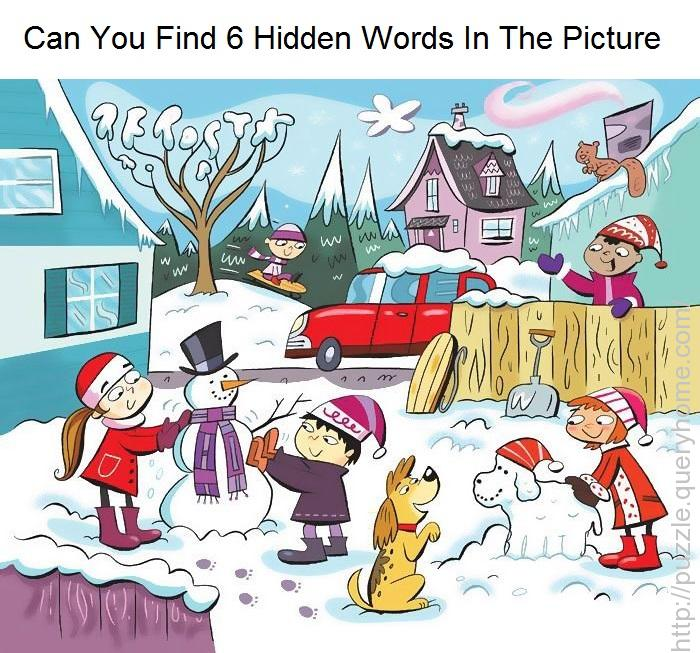 Can You Find 6 Hidden Words In The Picture