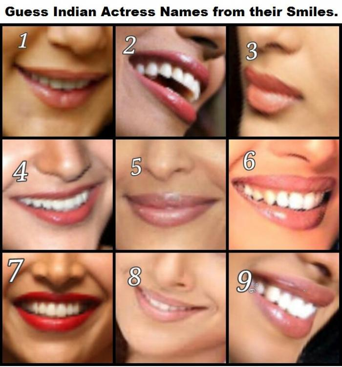 Guess Indian Actress from their smiles