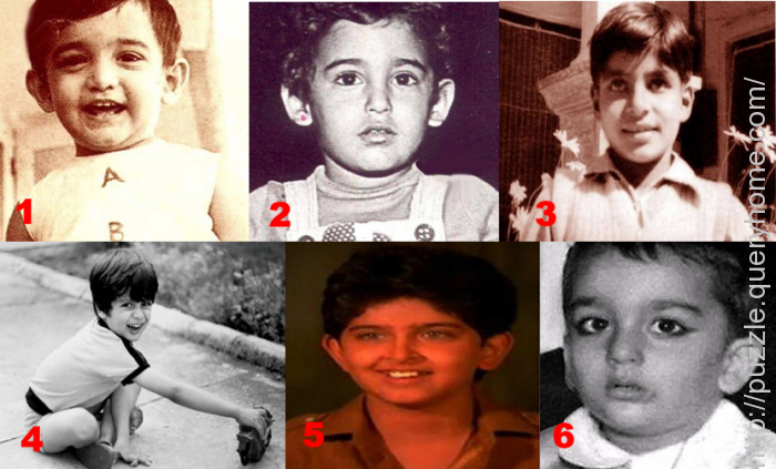 Can you guess the names of these bollywood celebrities from their childhood photos?