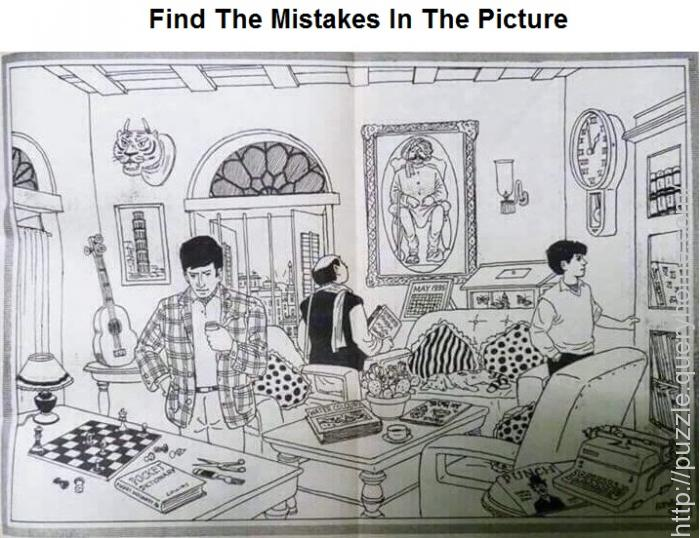 Find The Mistakes In The Following Picture