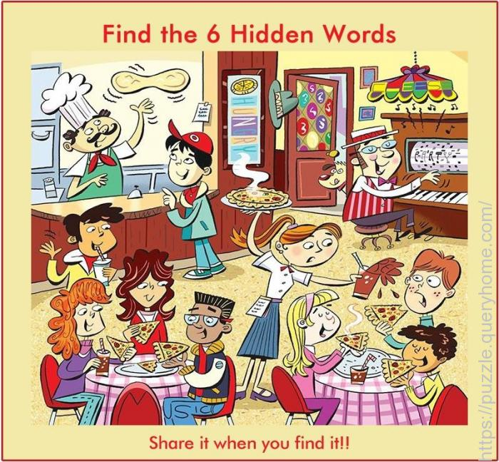 find six hidden words