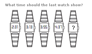 What time should the last watch show