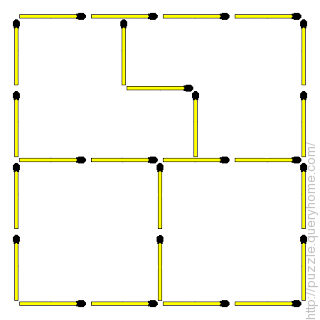 Four division using the nine additional sticks