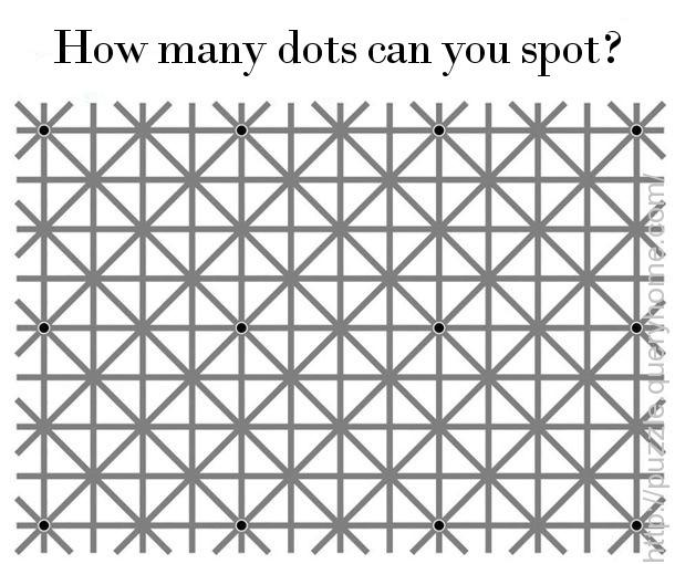 How many dots can you spot in the following image?