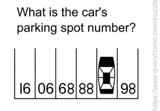 What is the car's parking spot numbers?