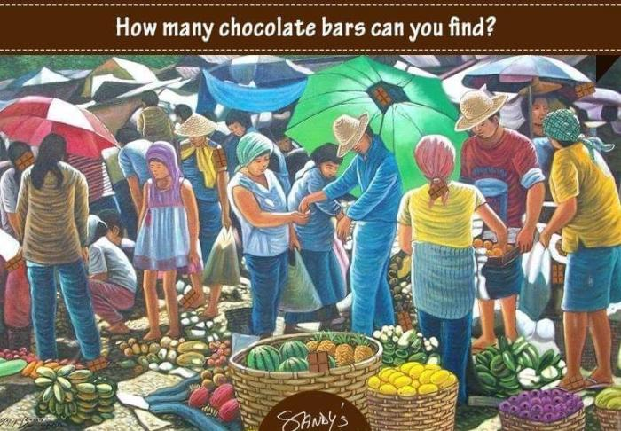 How many chocolate bars can you find in the following image