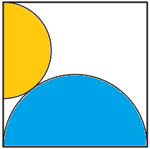 Radius of Yellow Circle