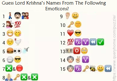 Guess Lord Krishna's Names From The Following Emoticons