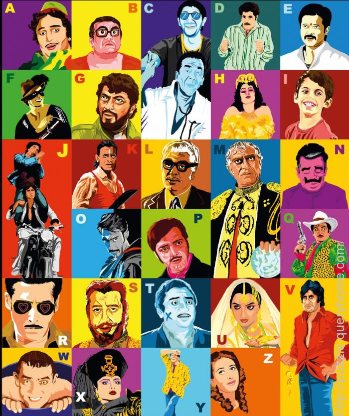 Guess A-Z of the Bollywood