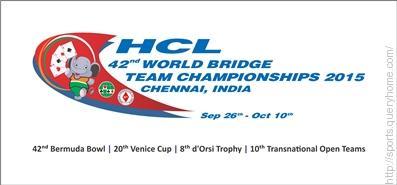India hosted World Bridge Championship in 2015.